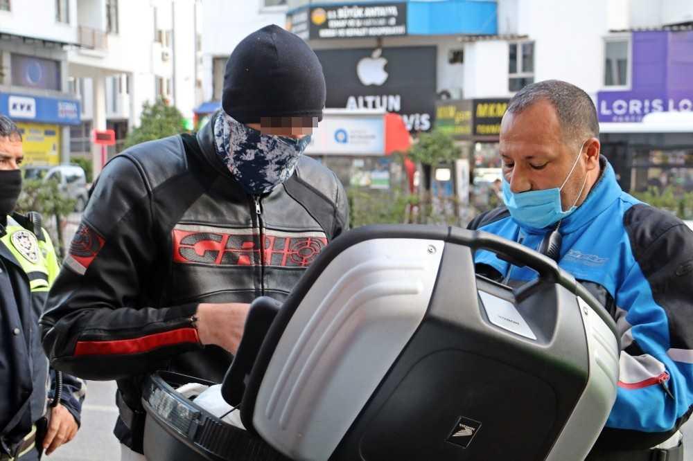 Sivil trafik polisinin durdurduğu motosikletli 3.52 promil alkollü çıktı