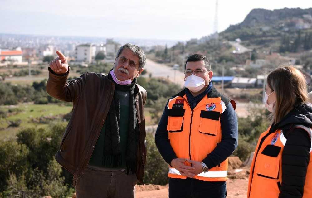 Tütüncü, Masa Dağı bölgesindeki yol yapım çalışmalarını inceledi