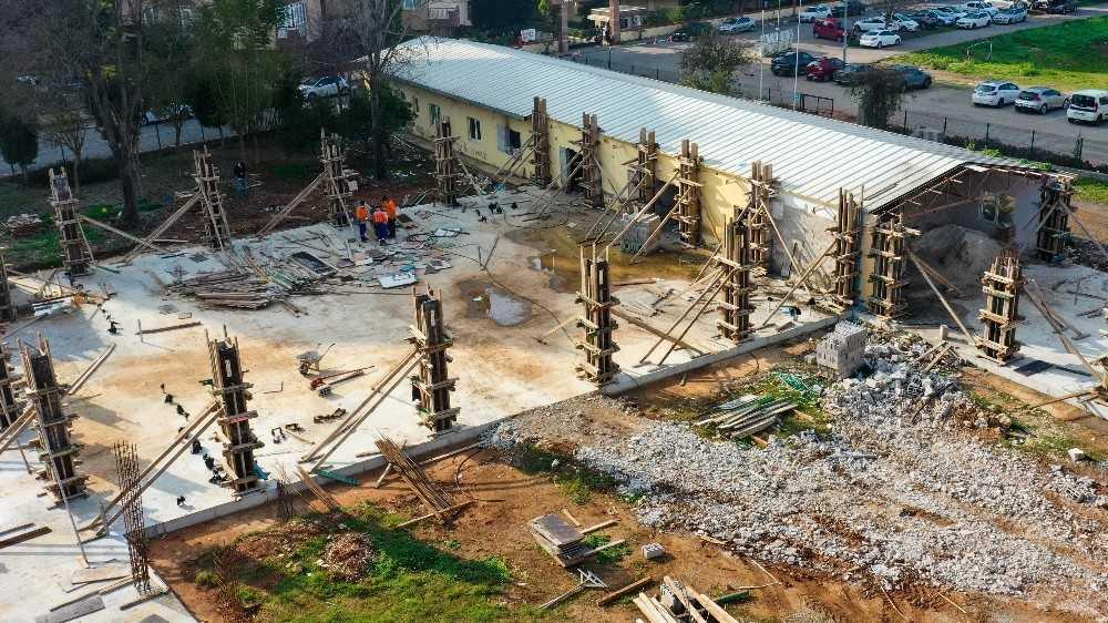Muratpaşa'nın 6'ıncı kreş inşaatı sürüyor