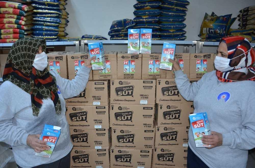 Ocak ayında 545 haneye 4 bin 360 litre süt ulaştırıldı