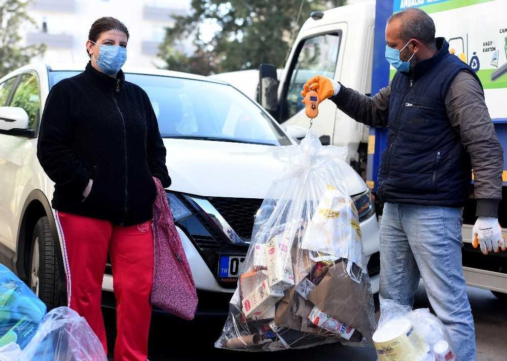 Ocak ayında Çevreci Komşu Kartla 64 bin 178 lira yüklendi