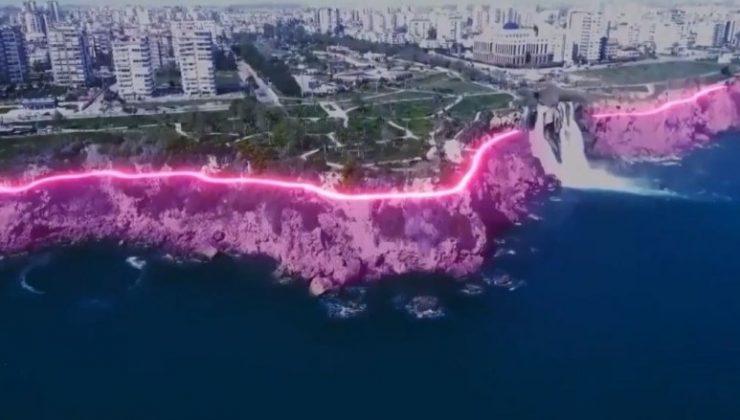 AKD, Antalya'daki falez aydınlatma projesinin iptalini istedi