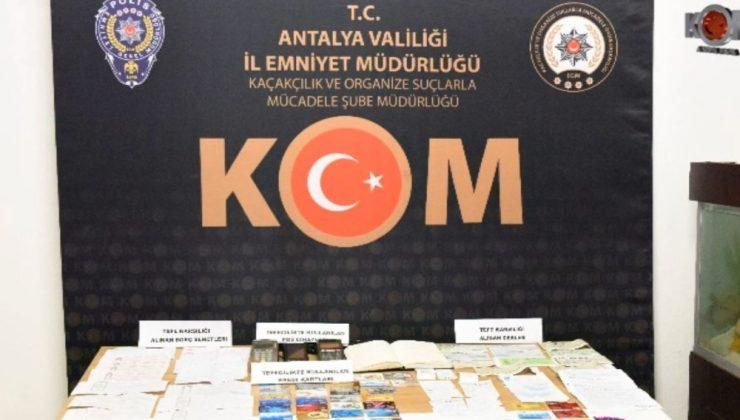 Antalya'da 65 kişiyi mağdur eden 9 tefeci tutuklandı