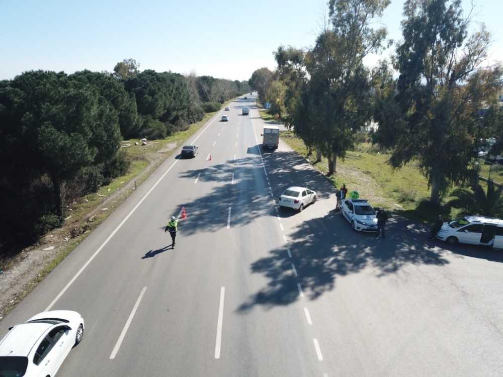Antalya'da  helikopter ve drone ile denetim