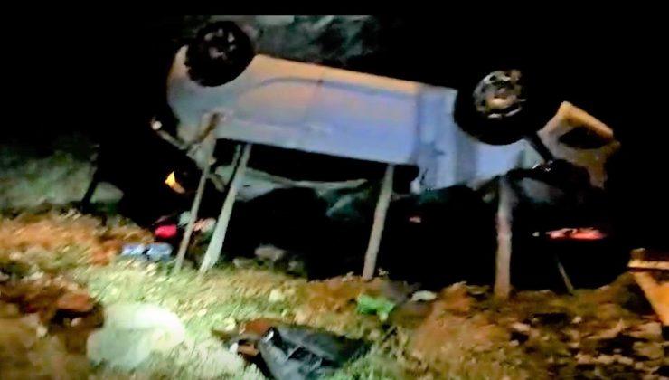 Aracıyla 20 metrelik uçurma yuvarlanan kadın sürücü öldü