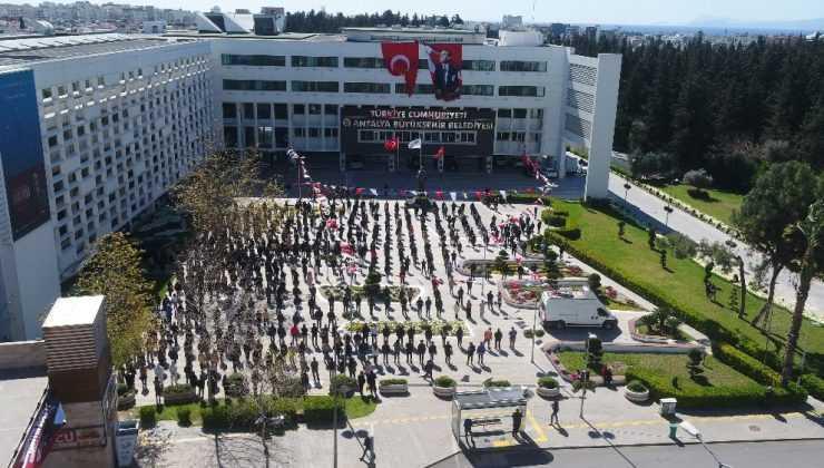 Büyükşehir İstiklal Marşı için tek nefes oldu