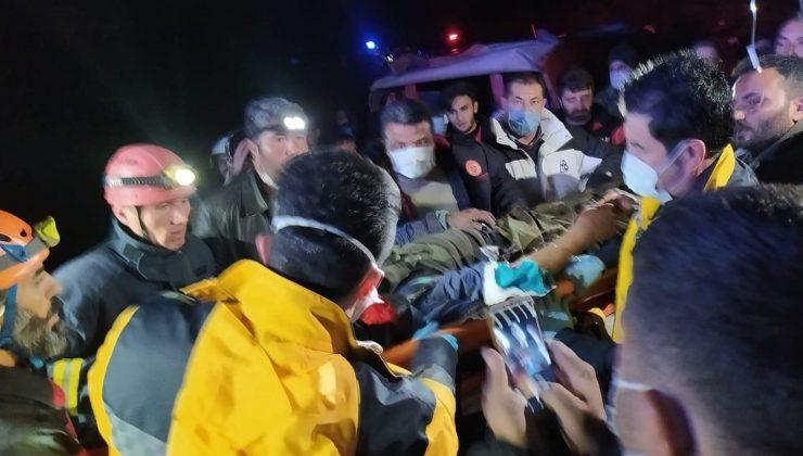Kaybolduktan 38 saat sonra kaza yaptığı yerde yaralı halde bulundu