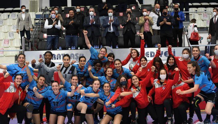 Konyaaltı Belediyesi çeyrek final ilk maçında galip