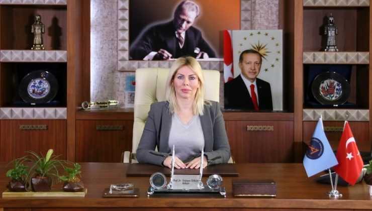 """Rektör Özkan:  """" Kadına yönelik her türlü şiddeti kınıyorum"""""""