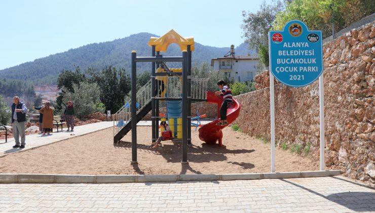 Alanya Belediyesi'nden Oba Mahallesi yeni çocuk parkı