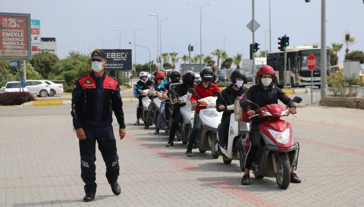 Alanya'da kuryelere ve motosiklet sürücülerine eğitim
