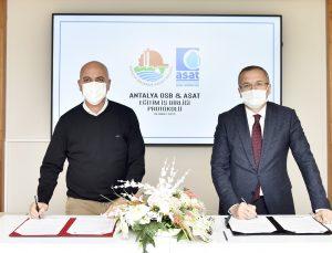 Antalya OSB ile ASAT arasında eğitim işbirliği
