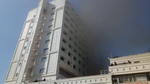 Antalya'da 4 yıldızlı otelde yangın
