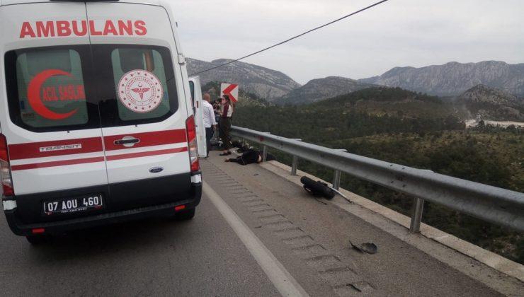 Antalya'da hız motosikleti kazası: 2 ölü
