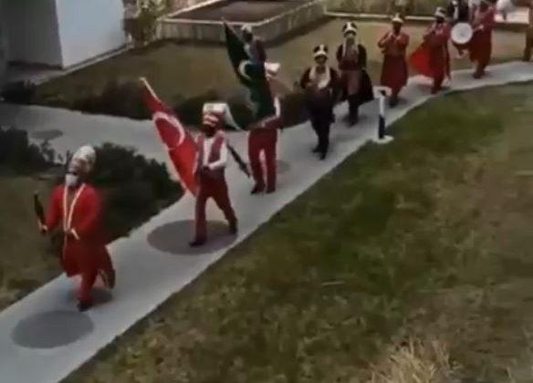 Antalya'da mehteranlı merasime ceza yağdı