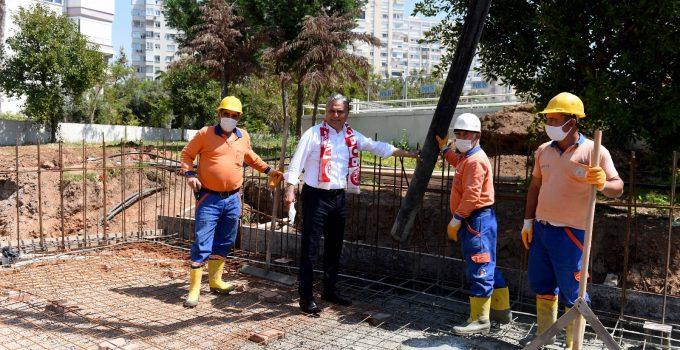 Antalyaspor taraftarı için stat yanına lokal yapılıyor