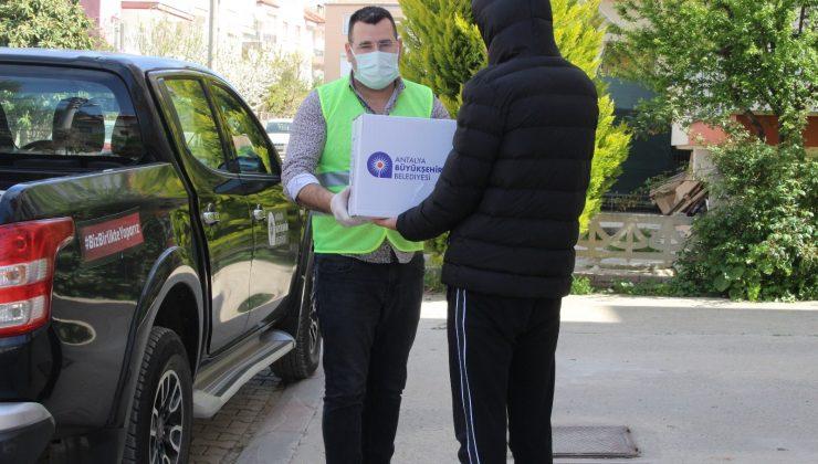 Büyükşehir'den 7 ilçeye gıda yardımı