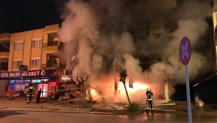 Eczanede çıkan yangın mahalleyi savaş alanına çevirdi