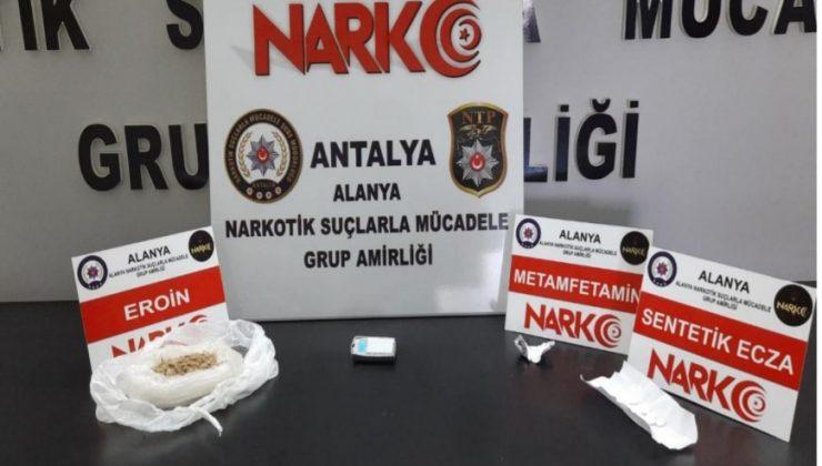 Gaziantep'ten Alanya'ya getirilen uyuşturucu polise takıldı