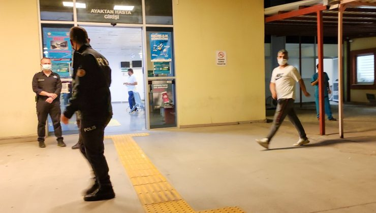 """Karantinadan kaçıp olay çıkardı, polisin yüzüne tükürerek """"korktun mu?"""" dedi"""