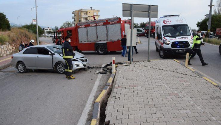 Kontrolden çıkan otomobil karşı şeride geçti: 1 yaralı