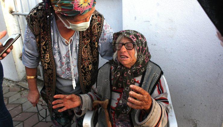 (Özel) Yaşlı çift yanan evlerini gözyaşları içinde izledi