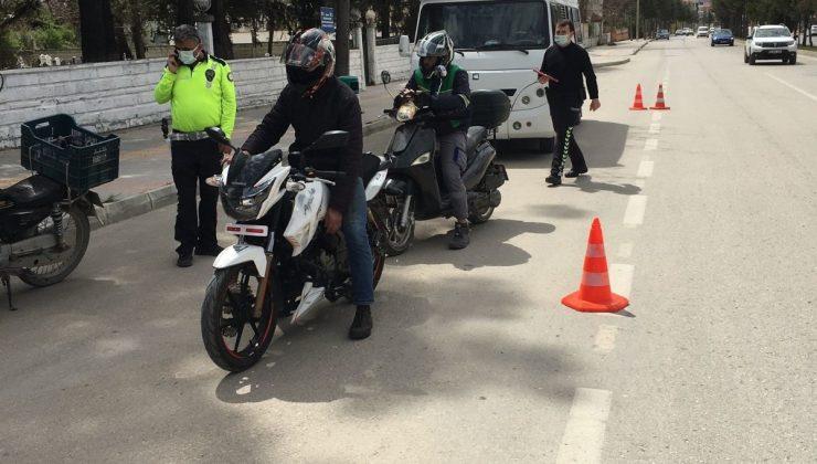 -Polis Ekiplerinden Motosiklet Denetimi