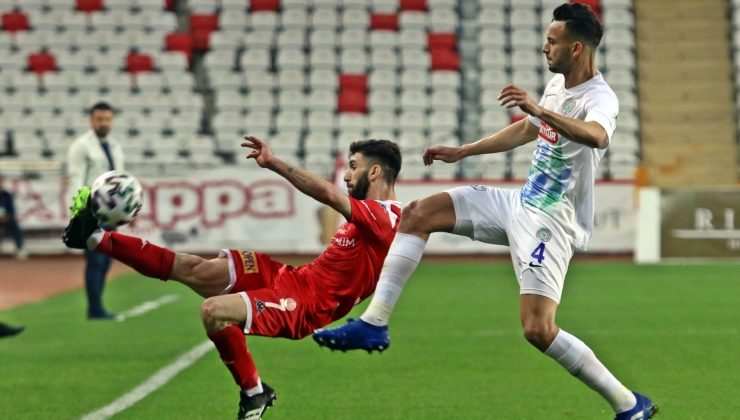 Süper Lig: FT Antalyaspor: 1 – Çaykur Rizespor: 2 (İlk yarı)
