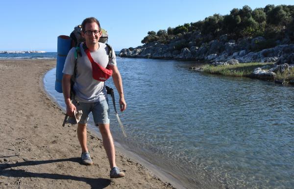 8'inci kez Antalya'ya gelen Rus iş insanı Likya Yolu yürüyüşünde