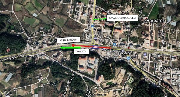 Aksu Köprülü Kavşağı bakım için trafiğe kapatılacak