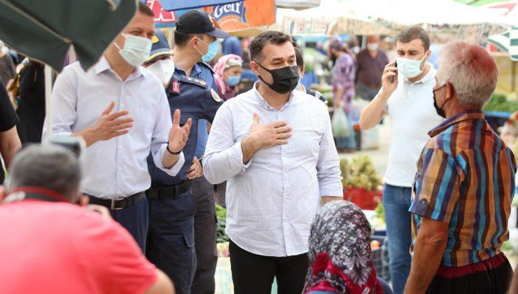 Alanya Belediye Başkanı Yücel'den pazar denetimi