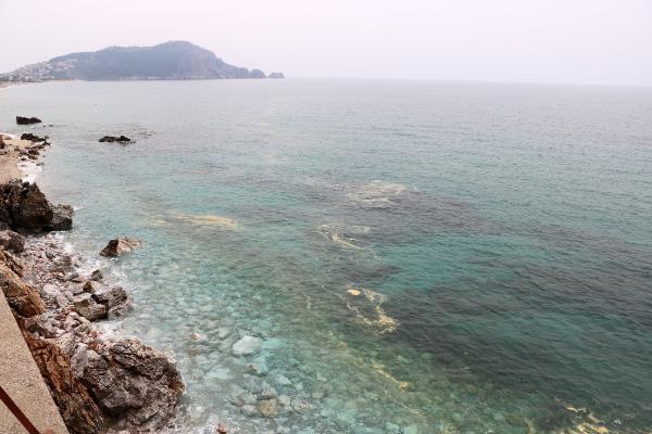 Alanya kıyılarında deniz salyası