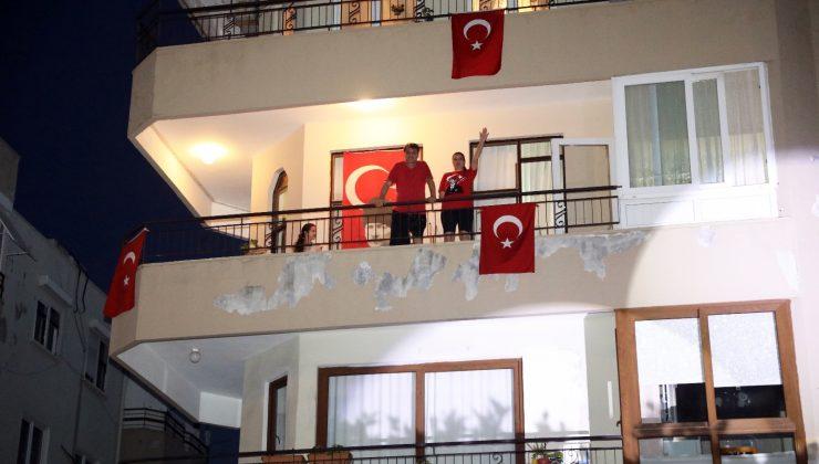 Alanya'da 19 Mayıs heyecanı evlere taşındı