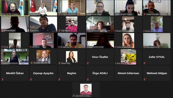 Antalya OSB sanayicileri yabancı ticaret müşavirleri ile buluştu