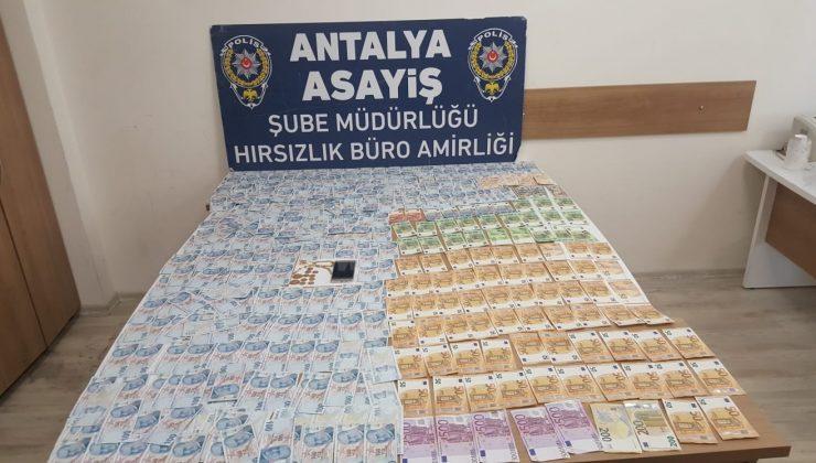 Antalya'da girdiği evden vurgun yapan şüpheli yakalandı