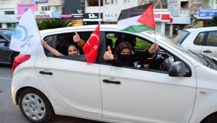 Antalya'da Kudüs'e destek konvoyu
