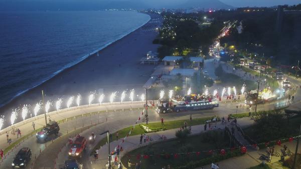 Antalya'da renkli mobil fener alayı / Ek fotoğraflar
