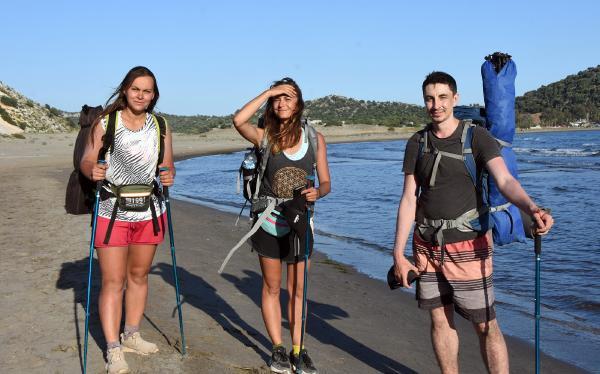 Antalya'da tanışıp, Likya Yolu'nda yürüyüşe çıktılar