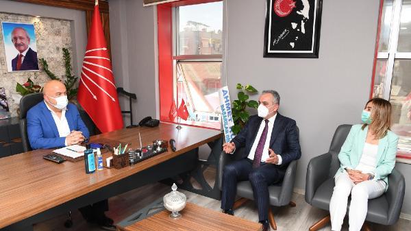 Başkan Esen'den CHP İl Başkan'ı Cengiz'e ziyaret