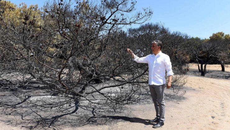 Başkan Uysal, yangın bölgesinde