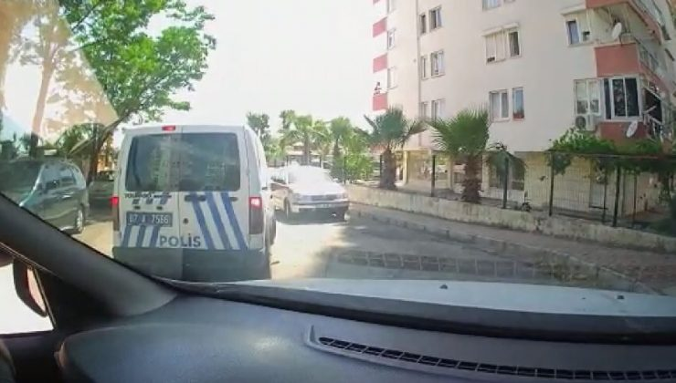 Ekip otosunu görüp kaçan çocuklara polisten şefkat anonsu