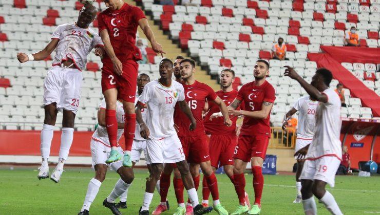 Hazırlık maçı: Türkiye: 0 – Gine: 0 (Maç sonucu)