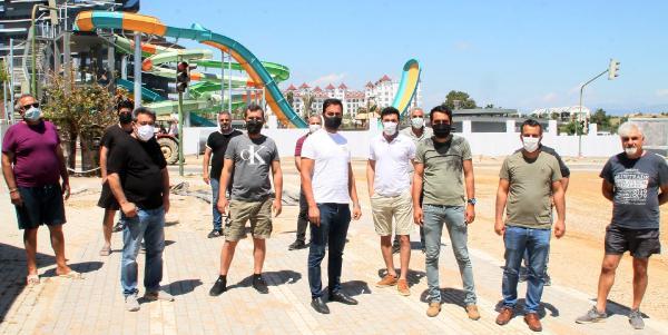Manavgat'ta esnafın inşaat tepkisi