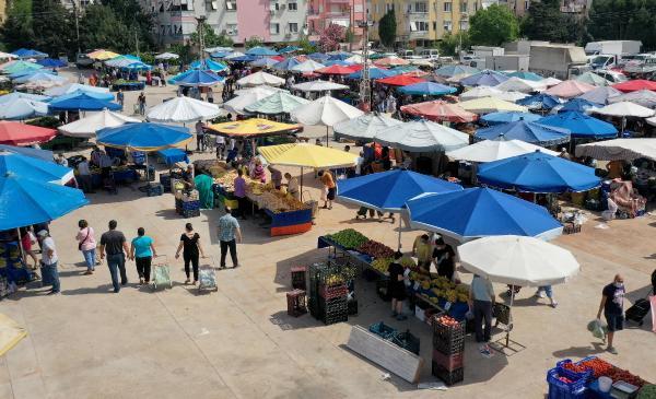 Muratpaşa'da pazarlar kontrol altında