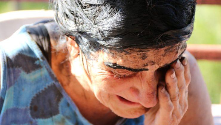 Antalya'da evleri yanan biri işitme engelli yaşlı çiftin korku dolu anları