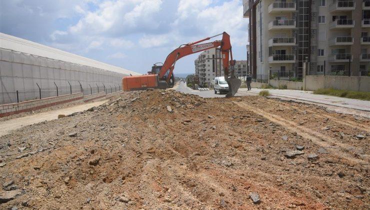 Alanya Belediyesi yol çalışmalarında yeni tekniğe geçti