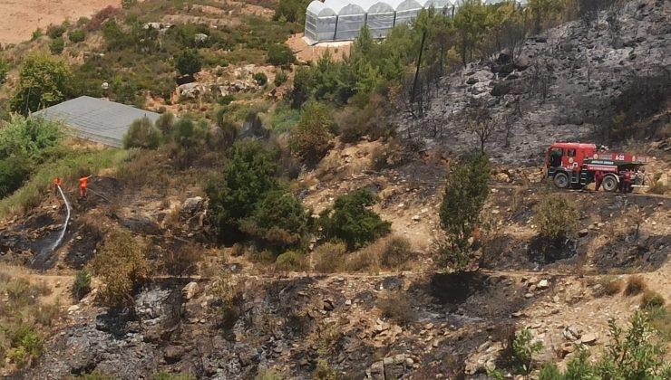 Alanya'da çıkan orman yangını ekiplerin müdahalesiyle söndürüldü