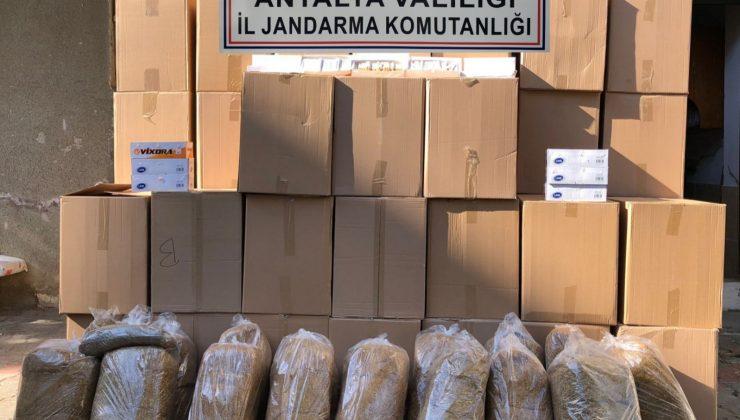 Alanya'da kaçak tütün operasyonu
