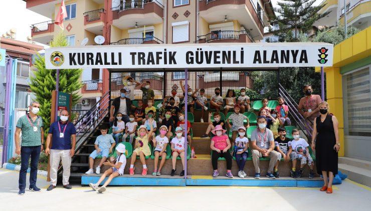 Alanya'da Trafik Eğitim Parkı eğitimleri yeniden başladı