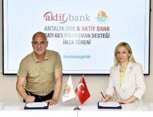 Antalya OSB sanayicilerine özel GES desteği